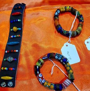 Ghana glass bracelet